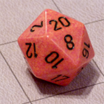 d20 or 20 Sided Dice for the Fyxt RPG System