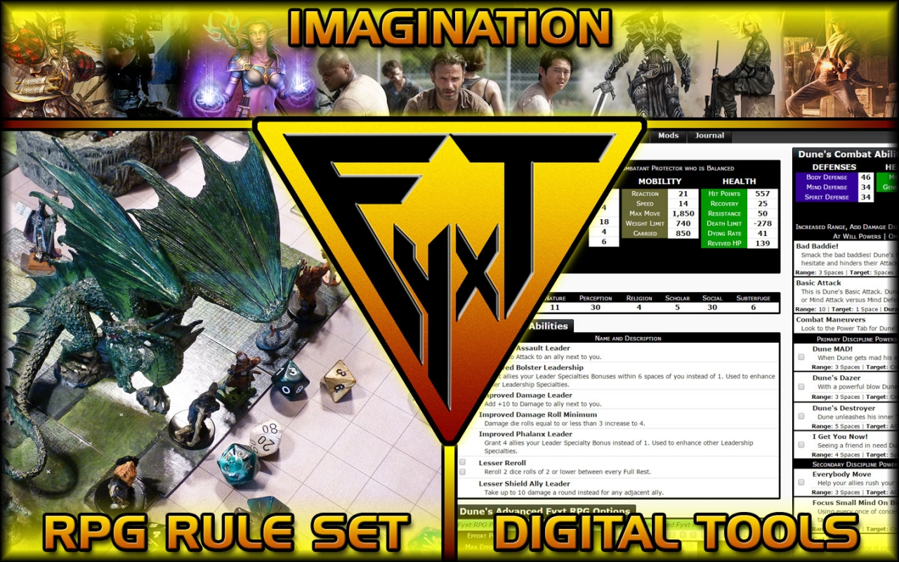 The Fyxt RPG is a free to play d20 style tabletop RPG.
