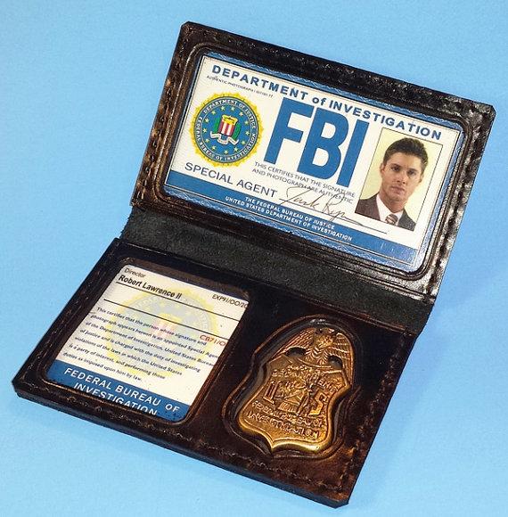 Image of Dean's Fake FBI Badge