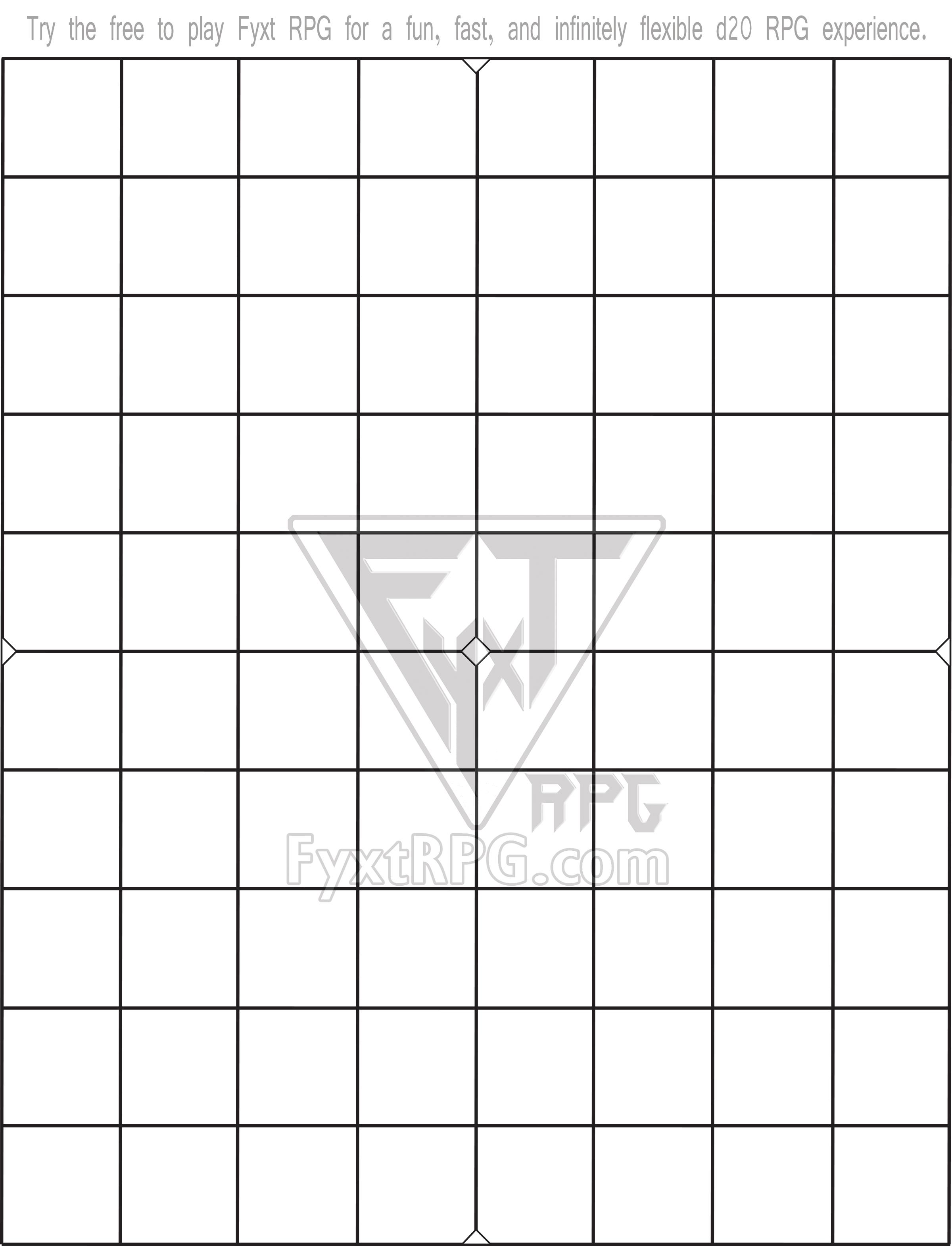 Fyxt RPG 8x10 Printable Battle Mat