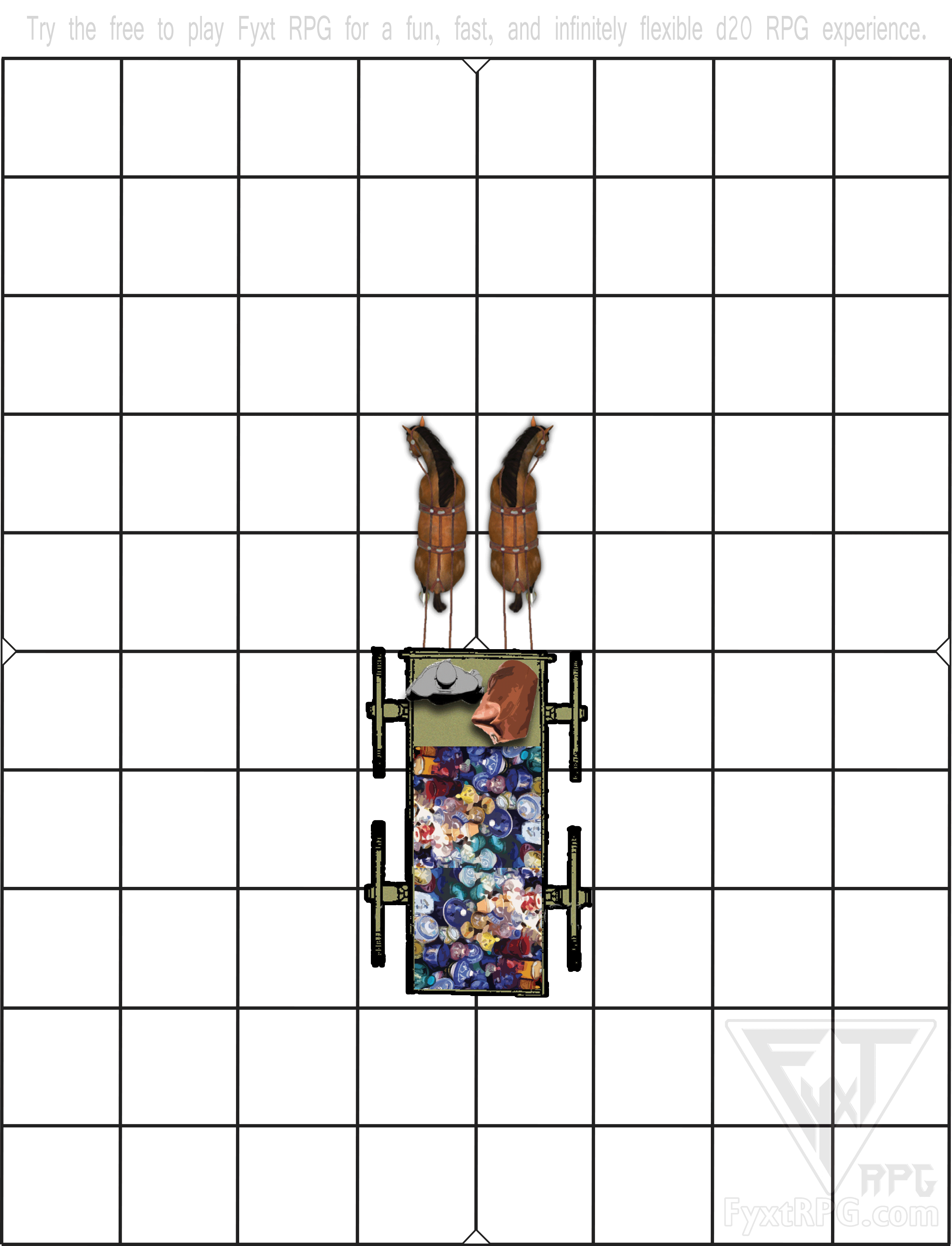 Fyxt RPG Instant Play Quest Printable Wagon Battle Mat